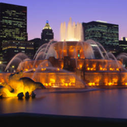 Buckingham Fountain, Chicago, Illinois, USA