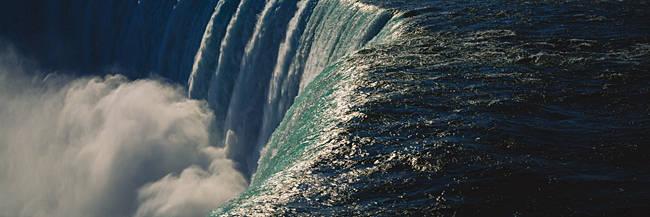 High angle view of a waterfall, Horseshoe Falls, Niagara Falls, Ontario, Canada