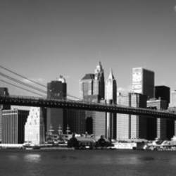 Brooklyn Bridge, Hudson River, NYC, New York City, New York State, USA