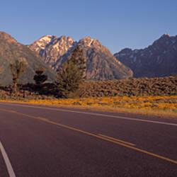 Road Grand Teton National Park WY USA