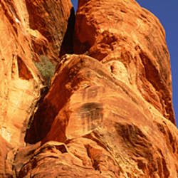 Low angle view of rock formations, Red Rock-Secret Mountain Wilderness, Sedona, Arizona, USA
