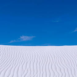 Rippled sand in the desert, White Sands National Monument, New Mexico, USA