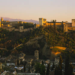 High angle view of a city, Alhambra, Granada, Spain