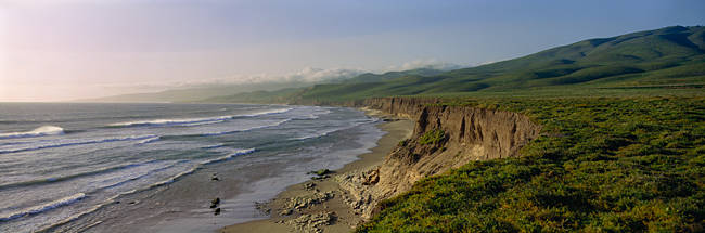 High angle view of a coast, Jalama Beach, California, USA
