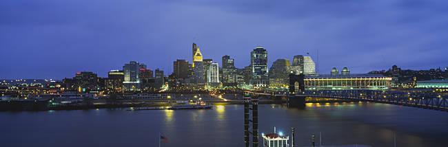 Buildings at the waterfront, Cincinnati, Ohio, USA