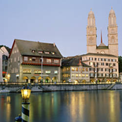 Evening, Cityscape, Zurich, Switzerland