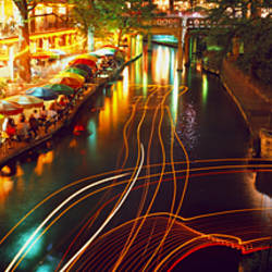 Night, Evening, Nightlife, Riverwalk, San Antonio, Texas, USA
