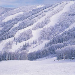Mountains, Snow, Steamboat Springs, Colorado, USA