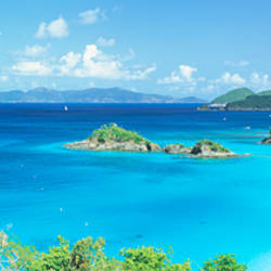 Ocean, Beach, Water, Trunk Bay, St John, Virgin Islands, West Indies