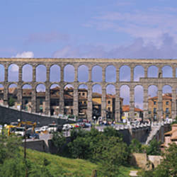 Road Under An Aqueduct, Segovia, Spain