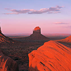 Monument Valley at Dusk UT & AZ USA