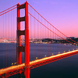Night Golden Gate Bridge San Francisco CA USA