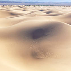 Panoramic view of sand dunes on a landscape, Mesquite Flat Dunes, Death Valley National Park, California, USA