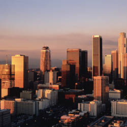 Skyline At Dusk, Los Angeles, California, USA