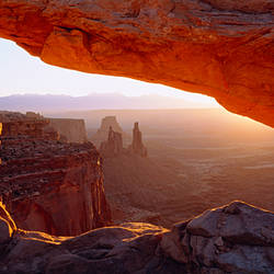 Close-up of a natural arch, Mesa Arch, Canyonlands National Park, Utah, USA