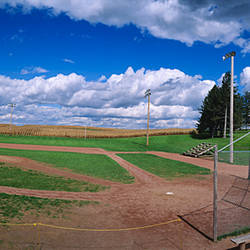 Clouds over a baseball field, Field of Dreams, Dyersville, Iowa, USA