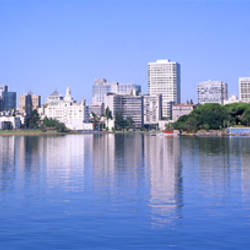 Panoramic View Of The Waterfront And Skyline, Oakland, California, USA