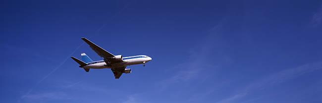 Boeing 747 Airplane In Flight