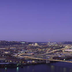 Aerial view of a city, Pittsburgh, Allegheny County, Pennsylvania, USA