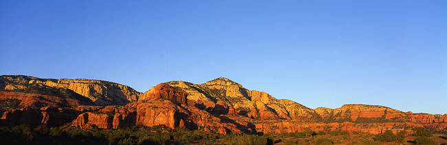Rock formations on a landscape, Red Rock-Secret Mountain Wilderness, Sedona, Arizona, USA