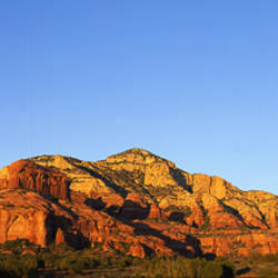 Rock formations on a landscape, Red Rock-Secret Mountain Wilderness, Sedona, Arizona, USA
