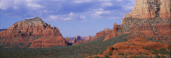 Low angle view of rock formations, Red Rocks State Park, Sedona, Arizona, USA