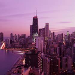 Twilight, Chicago, Illinois, USA