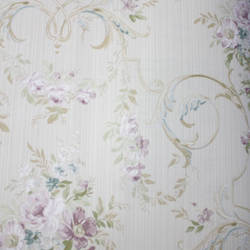 Floral Arabesque  Beige, Purple
