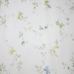 Floral Trail White, Yellow, Blue