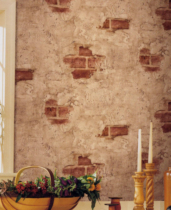 Plastered Brick  Faux Stone
