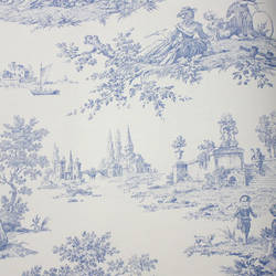 Scenic Toile White, Blue