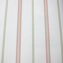 Thin Stripe  White, Pink, Green