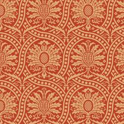 Damask, Ornate Gold and Red