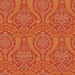 Damask, Red and Orange