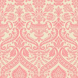 Damask, Pink and Cream Floral