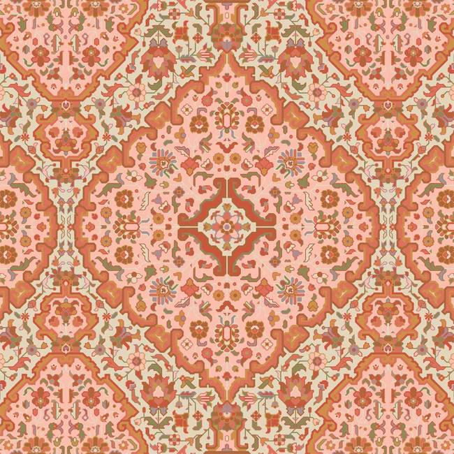 Intricate Rug, Peach and Cream