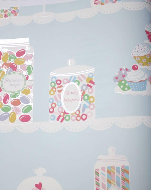 Sweet Tooth Robins Egg Blue Kids Wallpaper