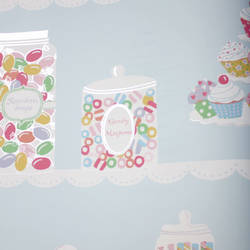 Sweet Tooth Robins Egg Blue Kids Wallpaper