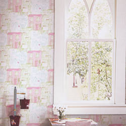 Miss Fleur Pink Petal Kids Wallpaper