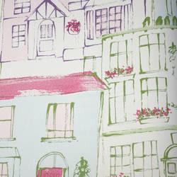 De Bon Voisinage Pink Purple Kids Wallpaper