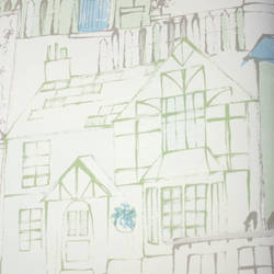 De Bon Voisinage Green Teal Kids Wallpaper