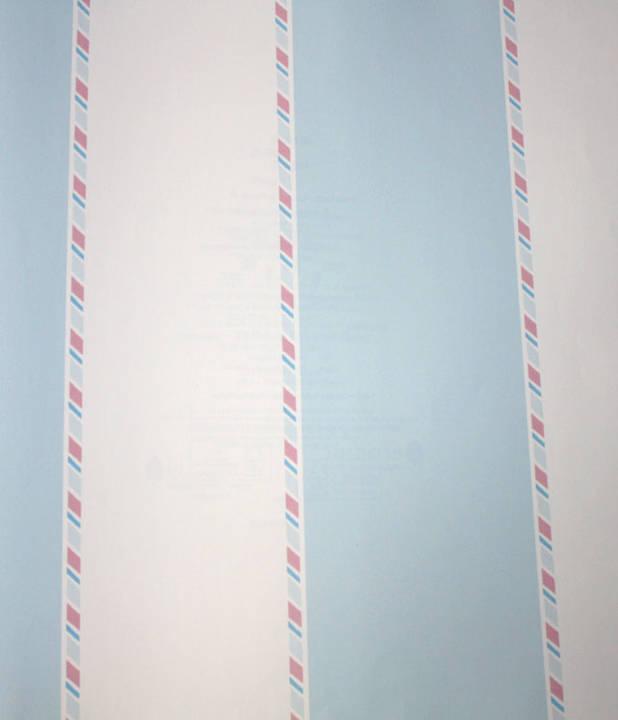 Candy Striper Robins Egg Blue Kids Wallpaper