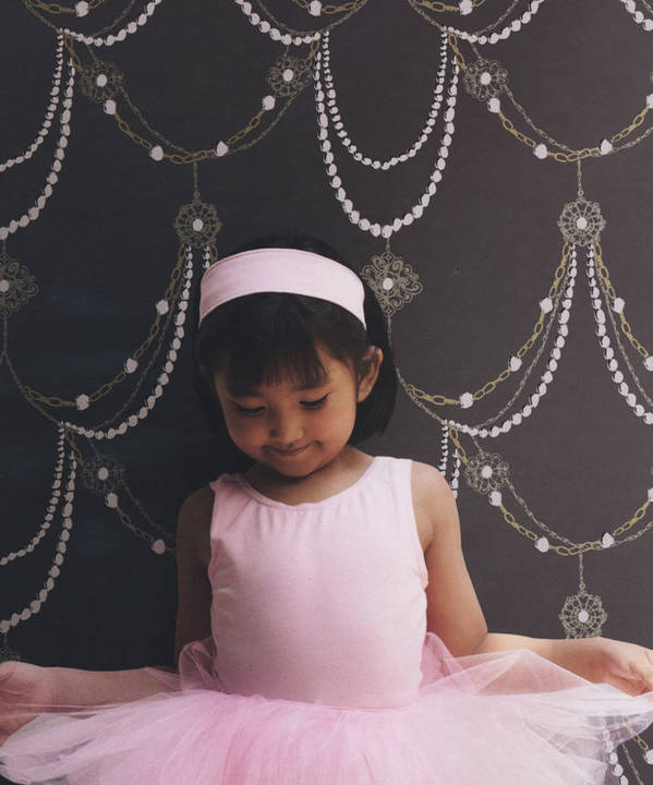 Baubles and Pearls Charcoal Grey Kids Wallpaper