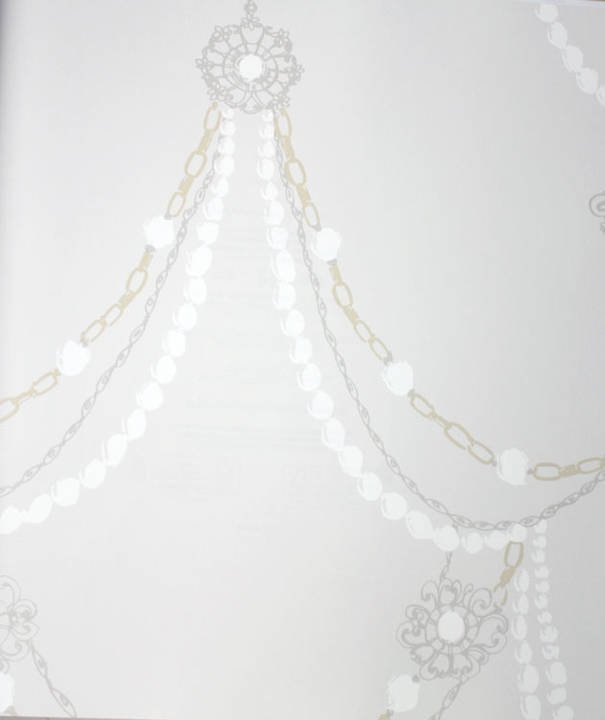Baubles and Pearls Taupe Kids Wallpaper