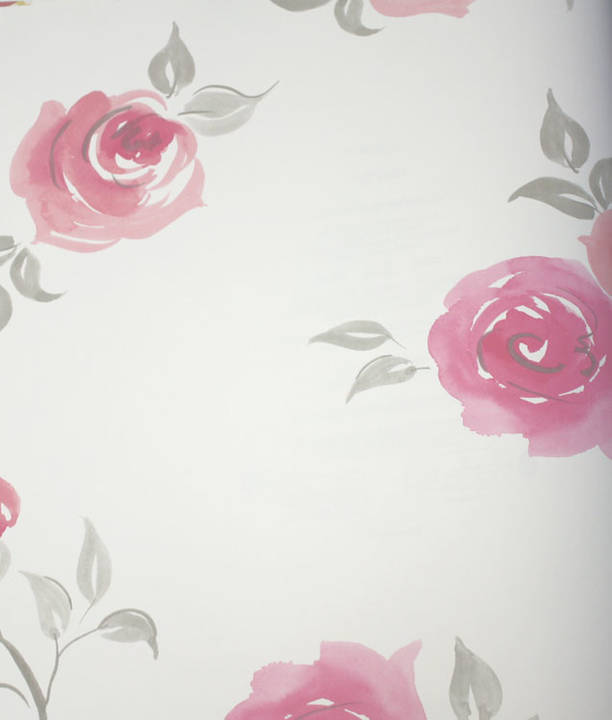 Rosebud Ultra Pink Kids Wallpaper