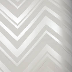 Chevron Stripe Silver Moon Kids Wallpaper