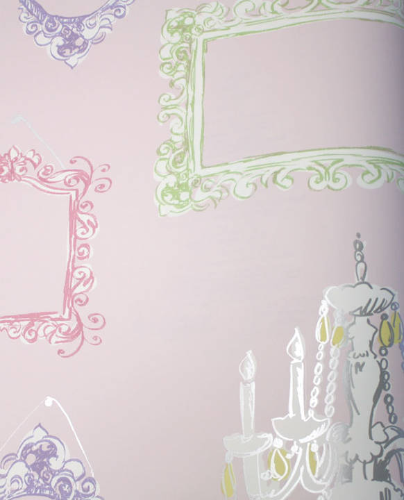 Picture This Cotton Candy Pink Kids Wallpaper
