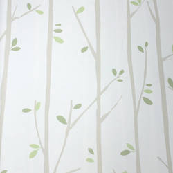 Twiggy Taupe on White Kids Wallpaper