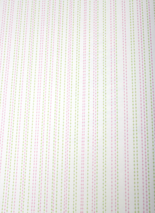 Beaded Curtain Lime and Pink Kids Wallpaper
