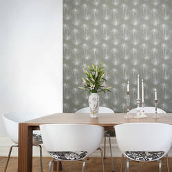 Skinny Mums, Grey - Jessica Swift Wallpaper Tiles